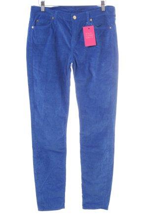 7 For All Mankind Pantalone di velluto a coste blu stile stravagante