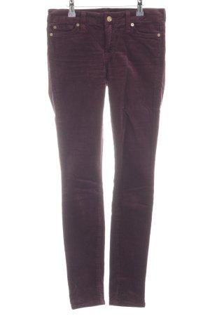 7 For All Mankind Pantalone di velluto a coste marrone-viola stile semplice