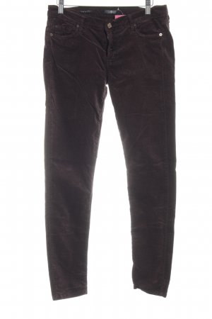 7 For All Mankind Corduroy Trousers blackberry-red hippie style