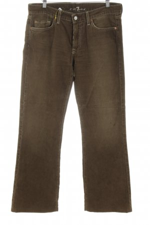 7 For All Mankind Corduroy Trousers brown simple style