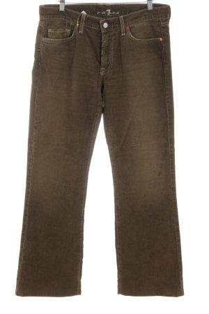 7 For All Mankind Pantalón de pana color bronce look casual