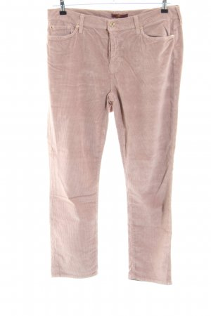 7 For All Mankind Pantalon en velours côtelé rose style décontracté
