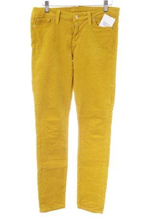 7 For All Mankind Pantalone di velluto a coste giallo scuro stile casual