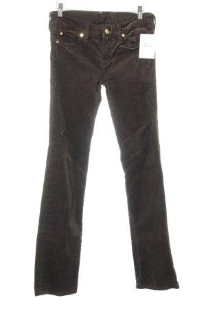 7 For All Mankind Pantalone di velluto a coste verde scuro stile casual
