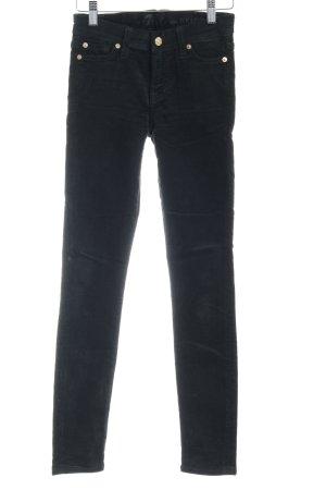 7 For All Mankind Pantalone di velluto a coste verde scuro stile semplice