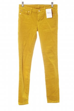 7 For All Mankind Pantalon en velours côtelé orange doré style décontracté