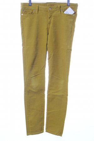 7 For All Mankind Pantalón de pana naranja dorado look casual