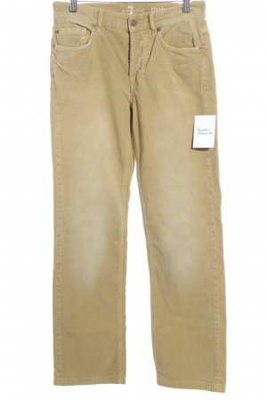 7 For All Mankind Pantalón de pana amarillo limón estilo clásico