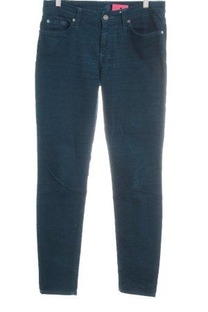 7 For All Mankind Pantalone di velluto a coste petrolio stile casual