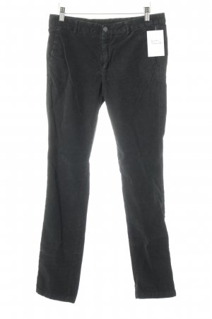 7 For All Mankind Pantalone di velluto a coste nero stile casual