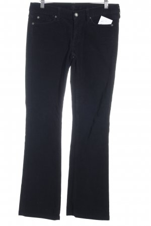 7 For All Mankind Pantalón de pana negro look casual