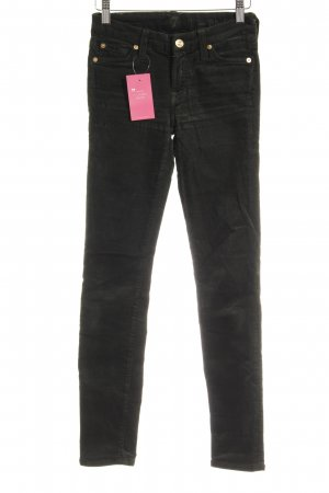 "7 For All Mankind Pantalone di velluto a coste ""The Skinny"" verde bosco"