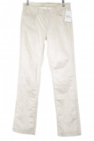 7 For All Mankind Pantalon en velours côtelé blanc cassé-crème