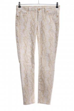 7 For All Mankind Pantalon cinq poches blanc cassé-doré motif abstrait