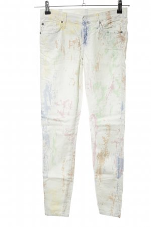 7 For All Mankind Pantalon cinq poches motif abstrait style décontracté