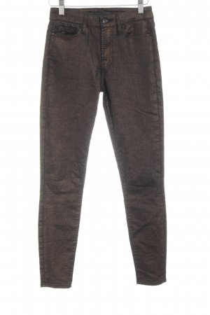 7 For All Mankind Pantalón de cinco bolsillos color bronce-negro