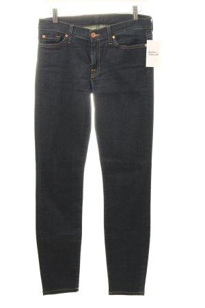 7 For All Mankind Five-Pocket-Hose dunkelblau schlichter Stil
