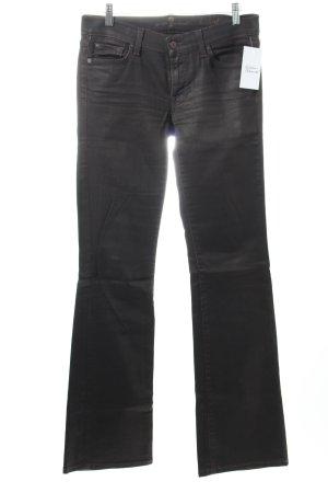 7 For All Mankind Five-Pocket-Hose schwarzbraun schlichter Stil