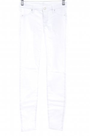 7 For All Mankind Pantalón de cinco bolsillos blanco look casual