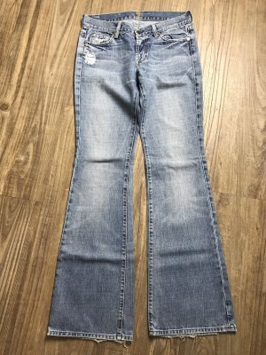 7 For All Mankind Vaquero de corte bota azul claro