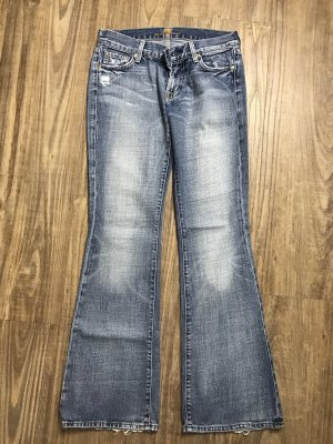 7 For All Mankind Denim Flares pale blue