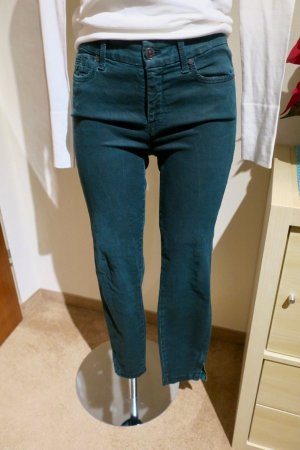7 for All Mankind Green Cropped Jeans, Gr. 28