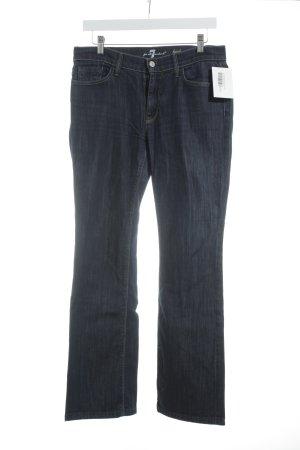 7 For All Mankind High-Waist Hose blau-grauviolett Casual-Look