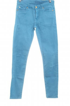 7 For All Mankind Pantalón de cintura alta azul neón look casual