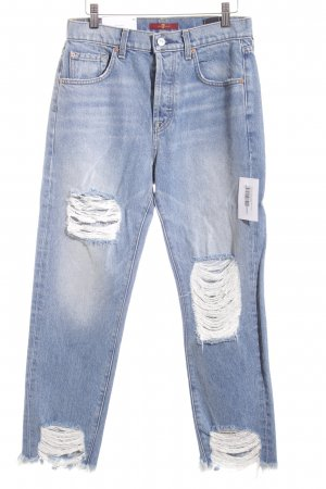 7 For All Mankind High Waist Jeans pale blue jeans look