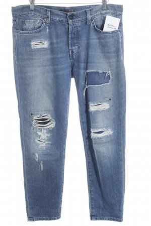 7 For All Mankind High Waist Jeans blau Destroy-Optik