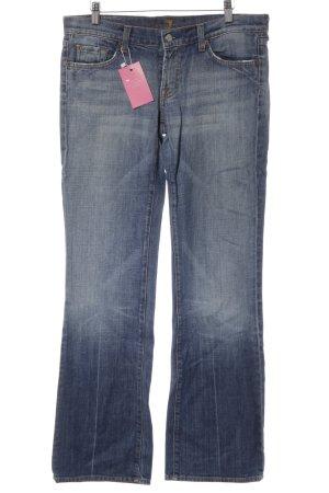7 For All Mankind High Waist Jeans blau-orange Casual-Look