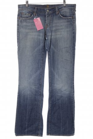7 For All Mankind Jeans a vita alta blu-arancione stile casual