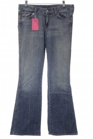 7 For All Mankind Vaquero de talle alto azul-naranja look casual
