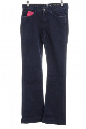 7 For All Mankind Hoge taille jeans donkerblauw casual uitstraling
