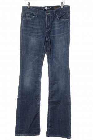 7 For All Mankind Hoge taille jeans donkerblauw Jeans-look