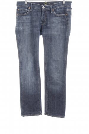 7 For All Mankind Vaquero de talle alto azul oscuro estilo sencillo