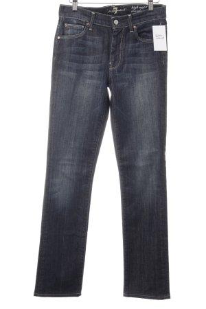 7 For All Mankind High Waist Jeans dunkelblau-stahlblau Casual-Look