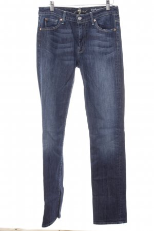 7 For All Mankind High Waist Jeans dunkelblau Webmuster Casual-Look