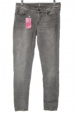 7 For All Mankind High Waist Jeans grau Casual-Look