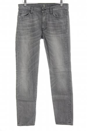 7 For All Mankind Hoge taille jeans grijs Logo applicatie