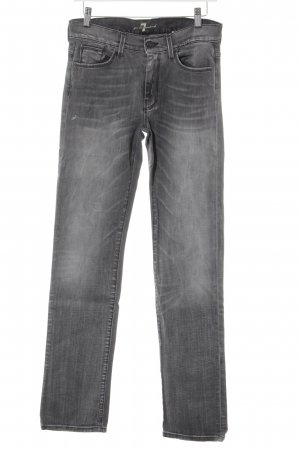 7 For All Mankind High Waist Jeans grau Washed-Optik
