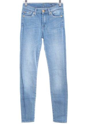 7 For All Mankind High Waist Jeans kornblumenblau Casual-Look