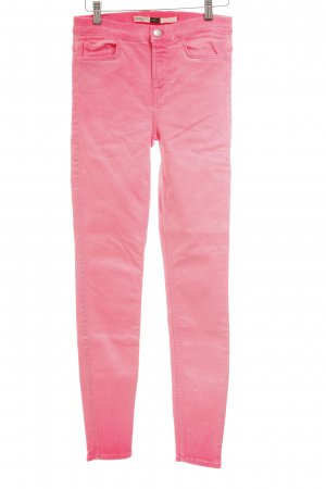 7 For All Mankind High Waist Jeans neonpink extravaganter Stil