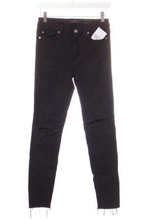 """7 For All Mankind High Waist Jeans """"Slim Illusion"""" schwarz"""