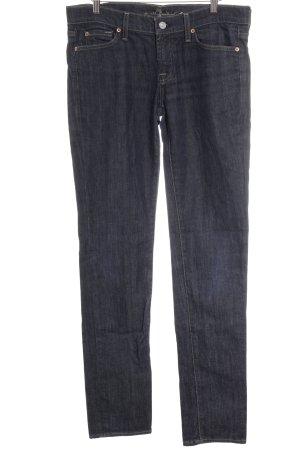 7 For All Mankind High Waist Jeans stahlblau schlichter Stil