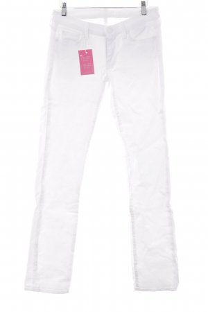 7 For All Mankind Jeans a vita alta bianco stile casual