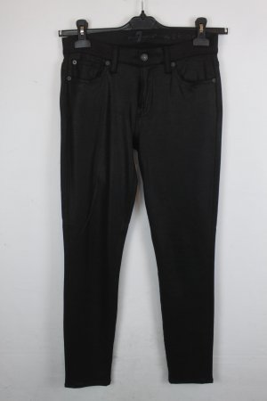 7 For All Mankind Stretch Trousers black viscose