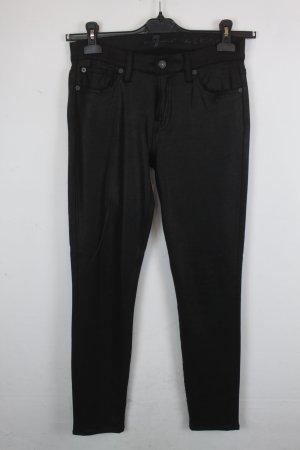 7 For All Mankind Pantalone elasticizzato nero Viscosa