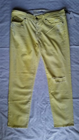7 for all mankind, Hose Josie Crop, Boyfriend, gelb, Gr. 30, € 300,-