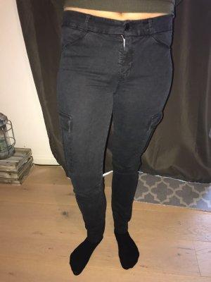 7 for all Mankind Hose mit Taschen an den Seiten, schwarz, Größe 28
